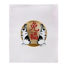 Year of the Rabbit Good Luck Throw Blanket