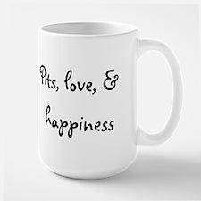 Pits, love, & happiness Mug