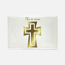 He is risen (cross) Rectangle Magnet