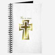 He is risen (cross) Journal