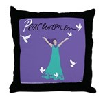 Peacewomen throw pillow.