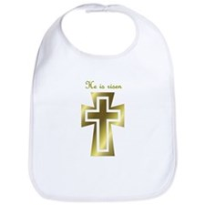 He is risen (cross) Bib