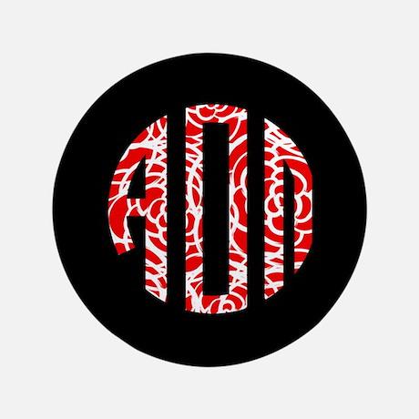Alpha Omicron Pi Monogram Button