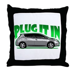 Leaf - Plug It In Throw Pillow