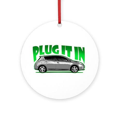 Leaf - Plug It In Ornament (Round)