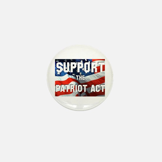 Support the Patriot Act Mini Button