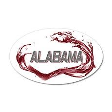 Alabama Crimson Tide 22x14 Oval Wall Peel