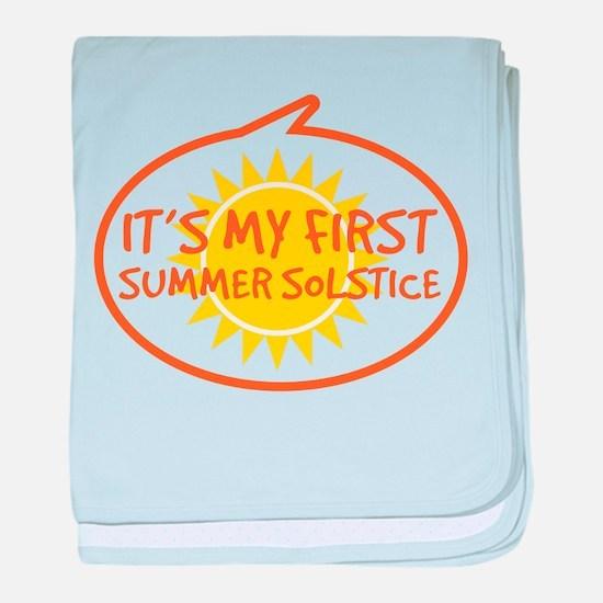 Baby's First Summer Solstice baby blanket