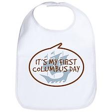 Baby's First Columbus Day Bib