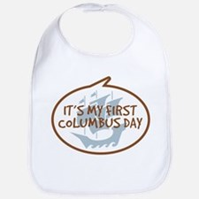 Baby's First Columbus Day Bib