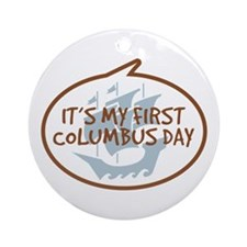 Baby's First Columbus Day Ornament (Round)