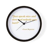 Court reporting Wall Clocks