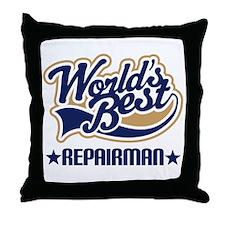 Repairman Throw Pillow