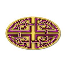 Celtic Purple-Gold 22x14 Oval Wall Peel