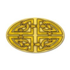 Celtic Gold Knotwork 22x14 Oval Wall Peel