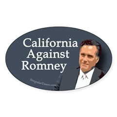 California Against Romney bumper sticker