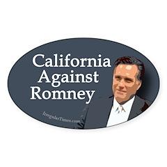 California Against Romney bumper sticker