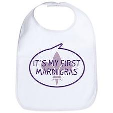 Baby's First Mardi Gras Bib