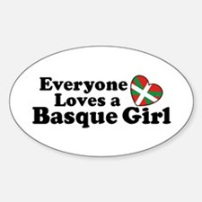 Everyone Loves a Basque Girl Sticker (Oval)