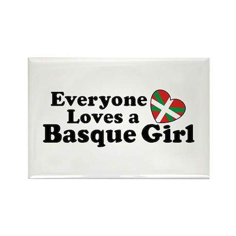 Everyone Loves a Basque Girl Rectangle Magnet