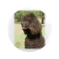 "Irish Water Spaniel 9R032D-215 3.5"" Button"
