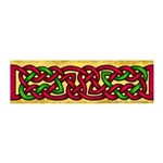 Celtic Red-Green Knotwork 42x14 Wall Peel