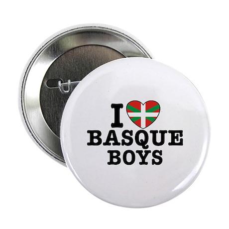 """I Love Basque Boys 2.25"""" Button"""