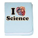 I Heart Science baby blanket