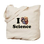 I Heart Science Tote Bag