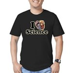 I Heart Science Men's Fitted T-Shirt (dark)