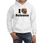 I Heart Science Hooded Sweatshirt