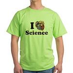 I Heart Science Green T-Shirt