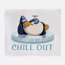 Chill Out Penguin Throw Blanket