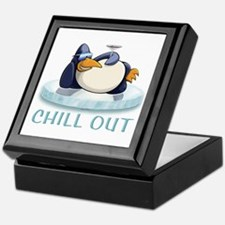Chill Out Penguin Keepsake Box