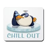 Chill Out Penguin Mousepad