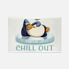 Chill Out Penguin Rectangle Magnet