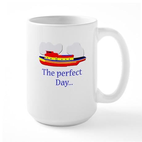 funny tugboat ship Large Mug