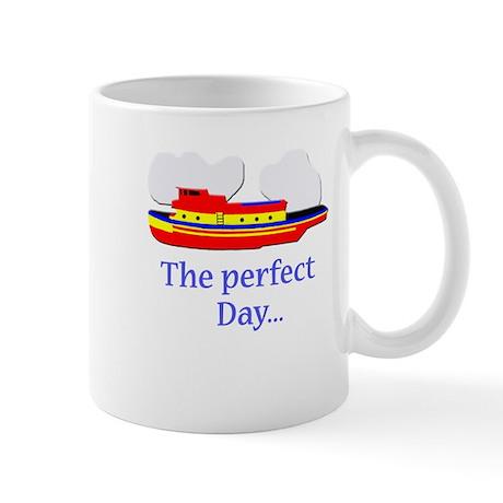 funny tugboat ship Mug