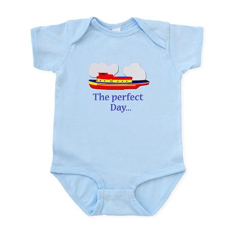 funny tugboat ship Infant Bodysuit