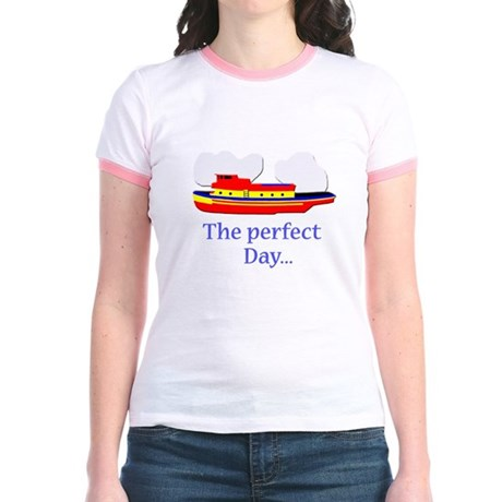 funny tugboat ship Jr. Ringer T-Shirt