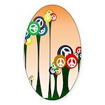 Peace Trees Oval Bumper Sticker
