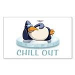 Chill Out Penguin Sticker (Rectangle 10 pk)