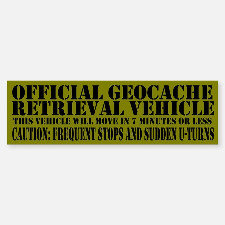 Official Geocache Reteieval Bumper Bumper Bumper Sticker