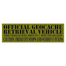 Official Geocache Reteieval Bumper Bumper Sticker