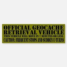 Official Geocache Reteieval Bumper Bumper Stickers