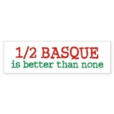 Half Basque Bumper Sticker