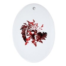 Vampire Bats Red Ornament (Oval)