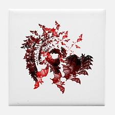 Vampire Bats Red Tile Coaster