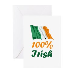 100% Irish St. Patrick's Day Greeting Cards (Pk of