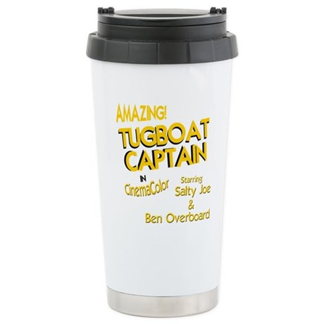 funny tugboat captain Stainless Steel Travel Mug